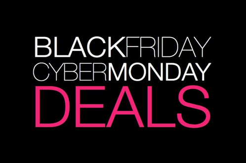 black friday and cyber monday graphic